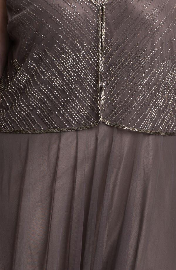 Alternate Image 3  - J Kara Beaded Chiffon Dress & Jacket (Plus)