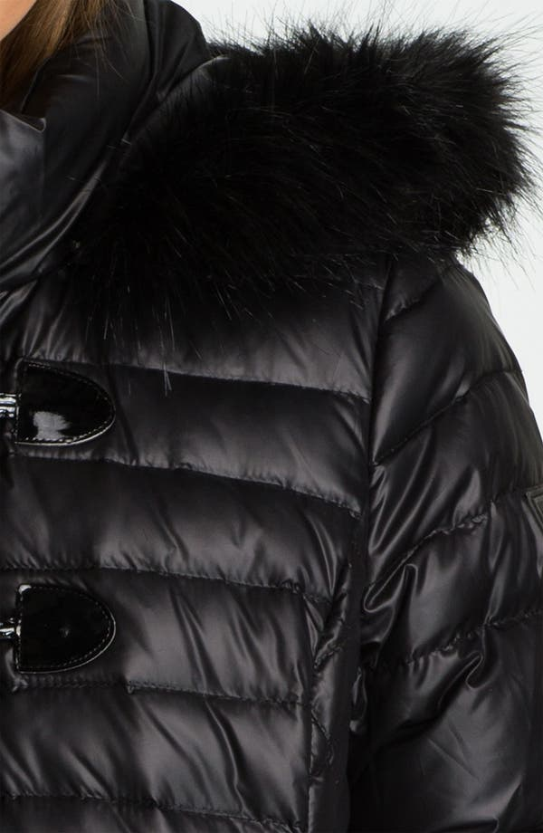 Alternate Image 3  - GUESS Quilted Coat with Faux Fur Trim (Online Exclusive)