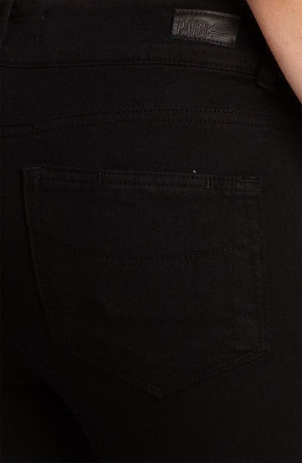 Alternate Image 3  - Paige Denim 'Hidden Hills' Bootcut Stretch Jeans (Jet Black)