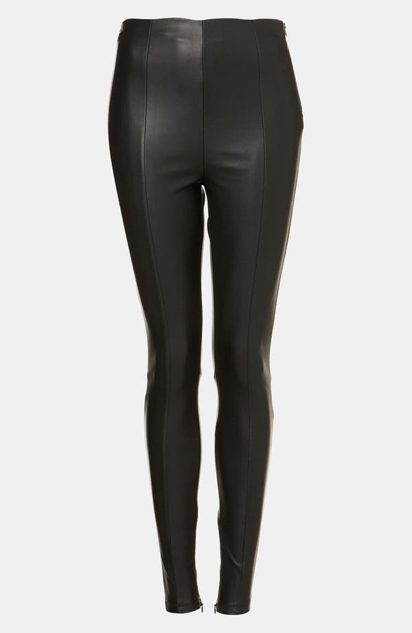 Alternate Image 1 Selected - Topshop 'Gabriella' Stretch Faux Leather Pants
