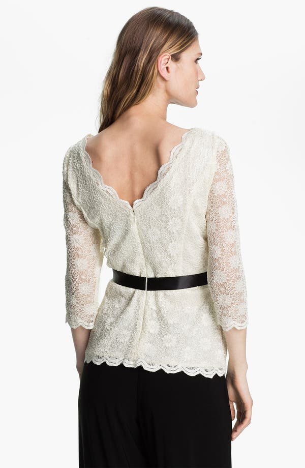 Alternate Image 2  - Alex Evenings Scalloped Lace Overlay Blouse