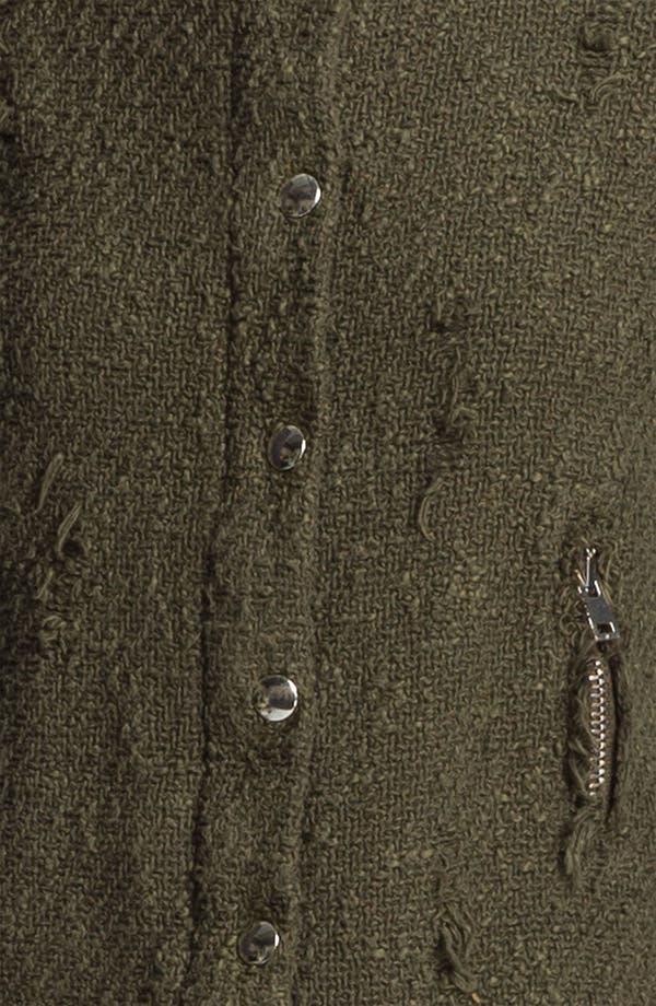 Alternate Image 3  - IRO 'Regan' Distressed Woven Sweater Jacket
