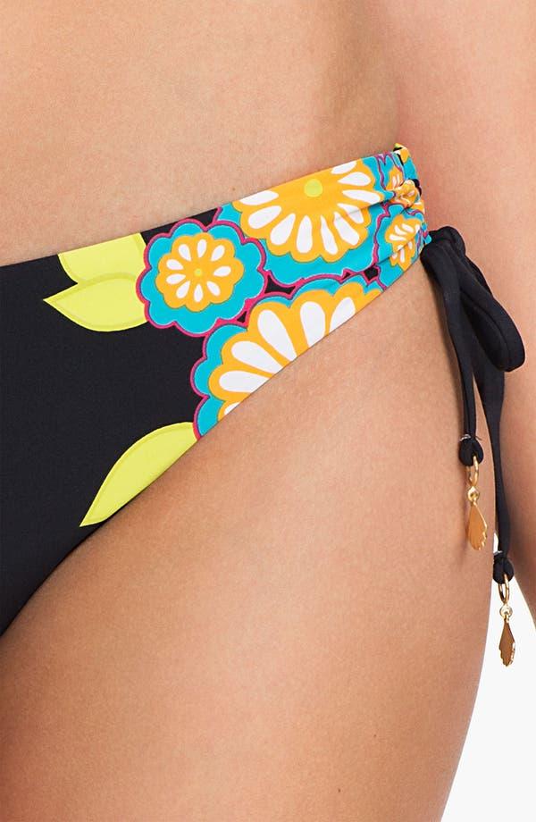 Alternate Image 3  - Trina Turk Shirred Side Hipster Bikini Bottoms