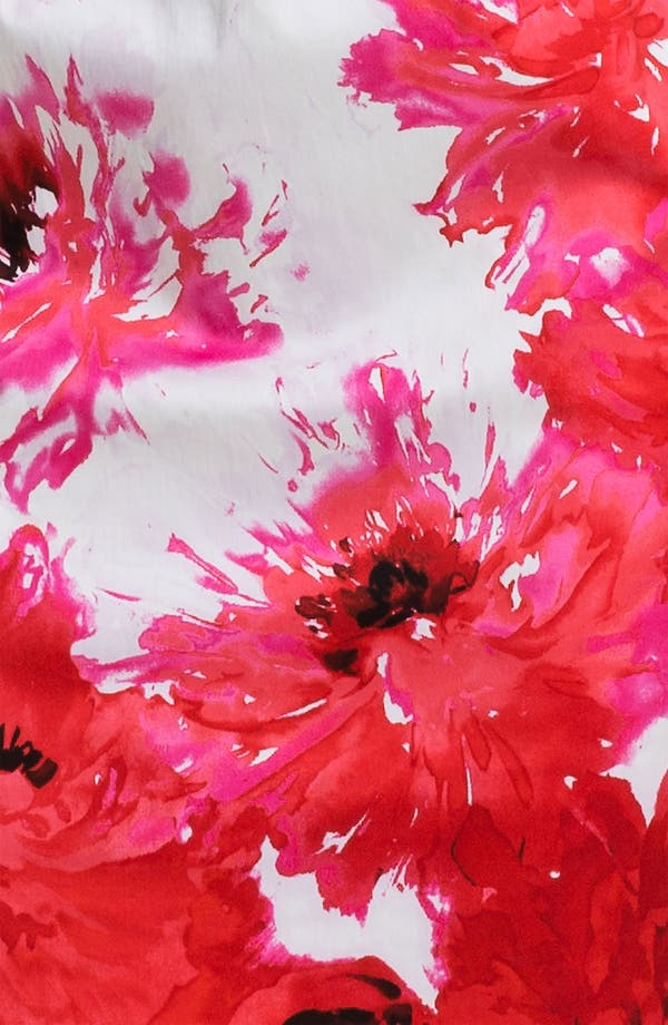 Alternate Image 3  - St. John Collection Chrysanthemum Print Stretch Sateen Dress