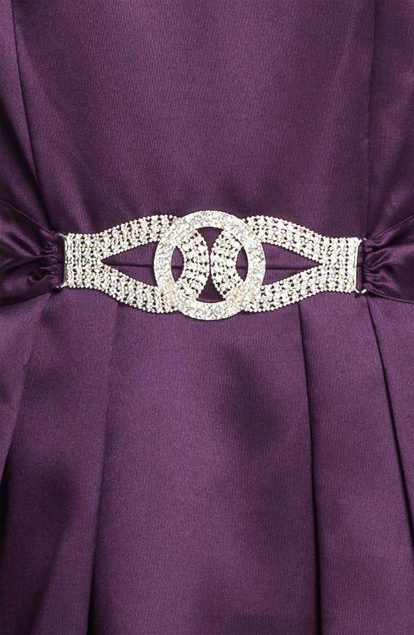 Alternate Image 2  - Alex Evenings Rhinestone Buckle Faille A-Line Gown