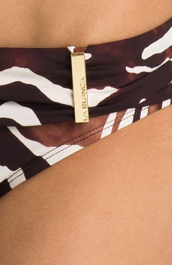 Alternate Image 3  - La Blanca 'Coast' Shirred Waist Hipster Bikini Bottoms