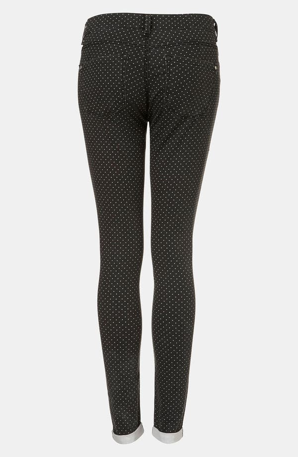 Alternate Image 2  - Topshop 'Leigh' Pin Spot Print Jeans