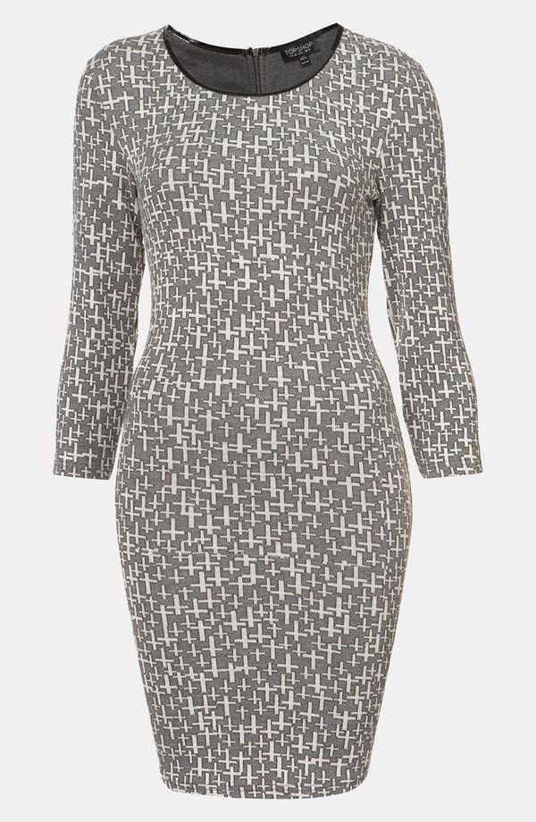 Alternate Image 1 Selected - Topshop 'Cross' Knit Dress