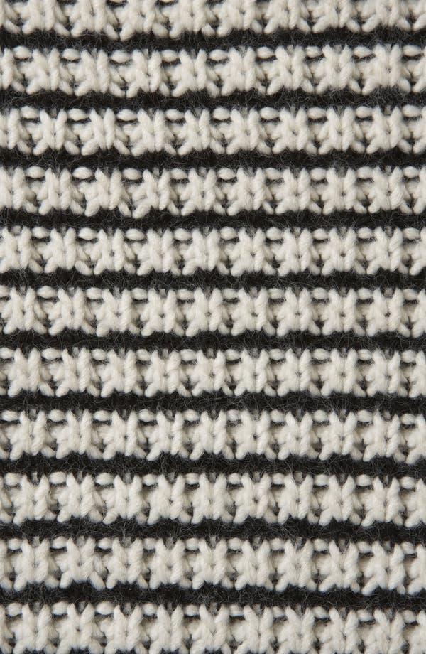 Alternate Image 3  - Topshop Stripe Textured Stitch Cardigan