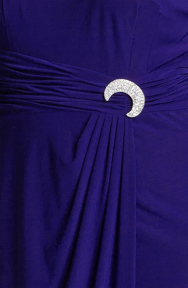 Alternate Image 3  - Alex Evenings Jeweled Matte Jersey Dress (Plus)