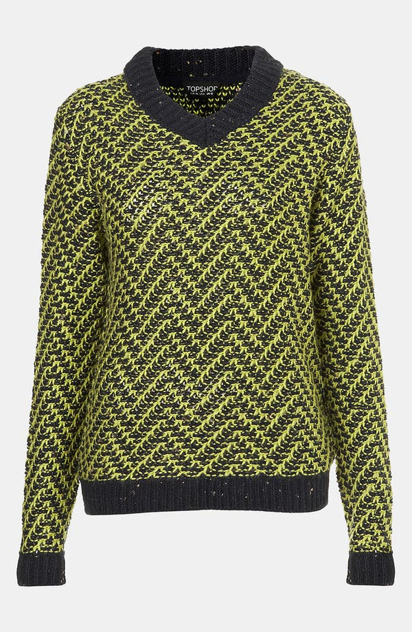 Alternate Image 1 Selected - Topshop Chevron Knit Sweater