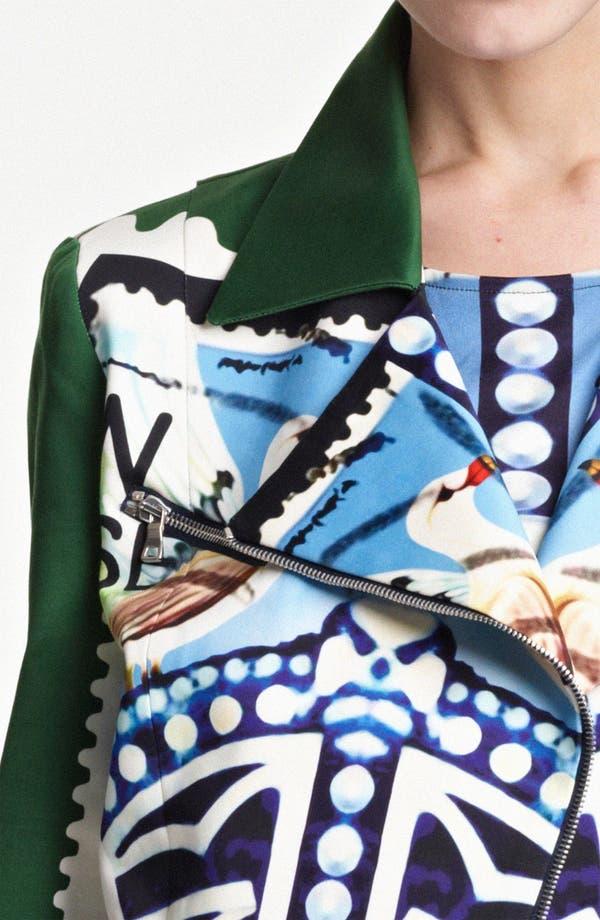 Alternate Image 3  - Mary Katrantzou Sateen Biker Jacket