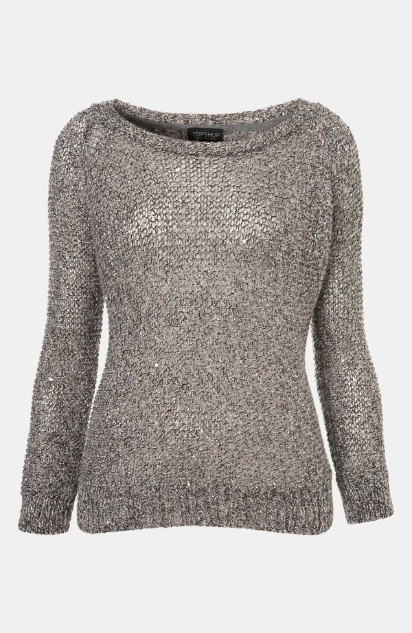 Main Image - Topshop Sparkle Fuzzy Knit Sweater