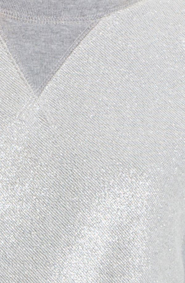 Alternate Image 3  - MARC BY MARC JACOBS Metallic Coated Sweatshirt