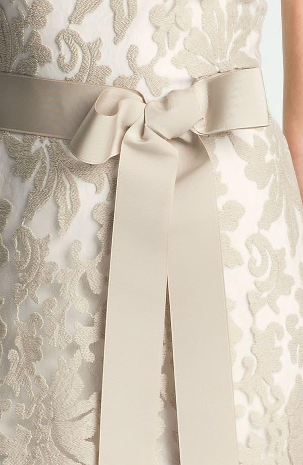 Alternate Image 3  - Tadashi Shoji One Shoulder Lace Overlay Tulle Gown