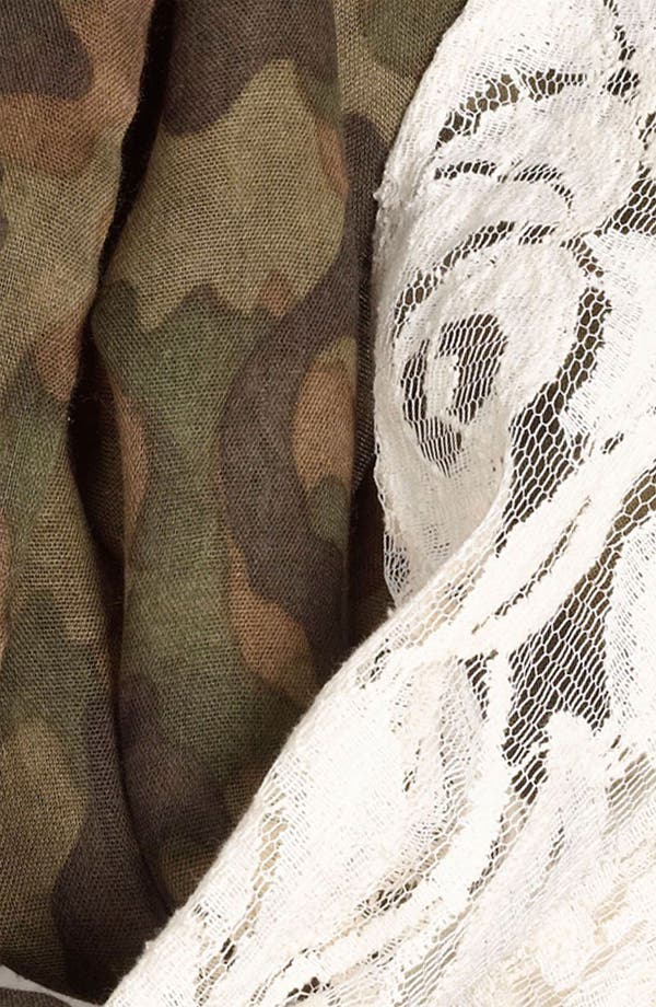 Alternate Image 2  - BP. Camo & Lace Circle Scarf