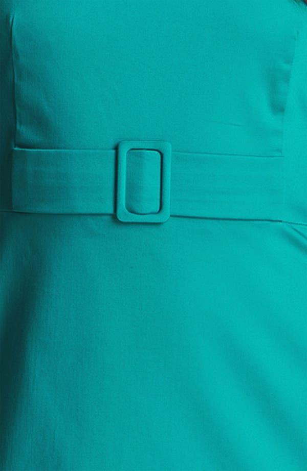Alternate Image 3  - Calvin Klein Cutaway Belted Cotton Dress