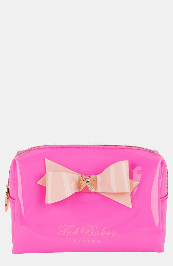 Alternate Image 1 Selected - Ted Baker London 'Small Bow' Cosmetics Case