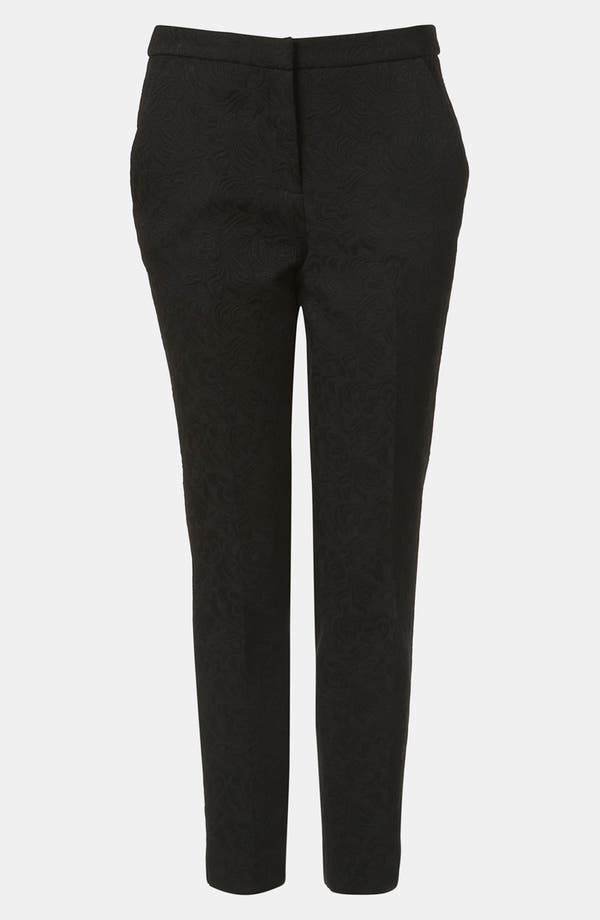 Alternate Image 1 Selected - Topshop Modern Jacquard Cigarette Pants