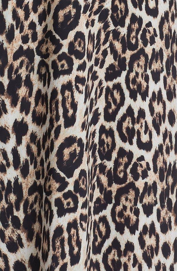 Alternate Image 3  - Alice + Olivia Leopard Print Wide Leg Pants