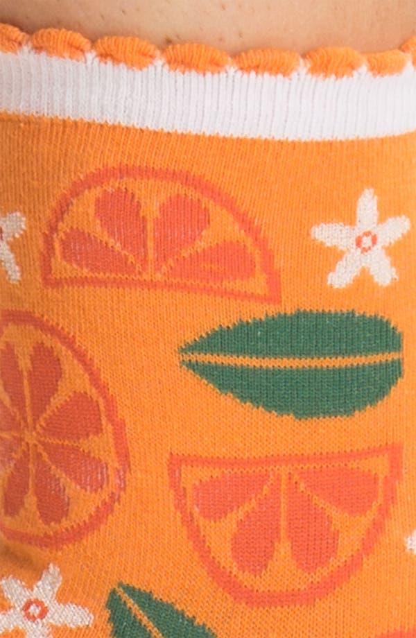 Alternate Image 2  - Hot Sox 'Citrus' Scallop Cuff Socks