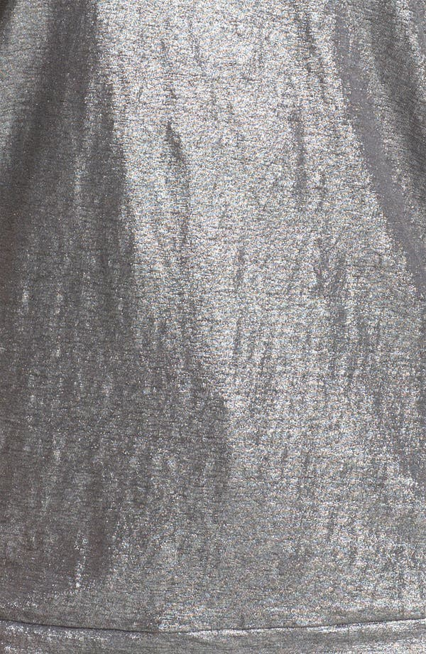 Alternate Image 3  - Eileen Fisher Metallic Linen Tee (Plus)