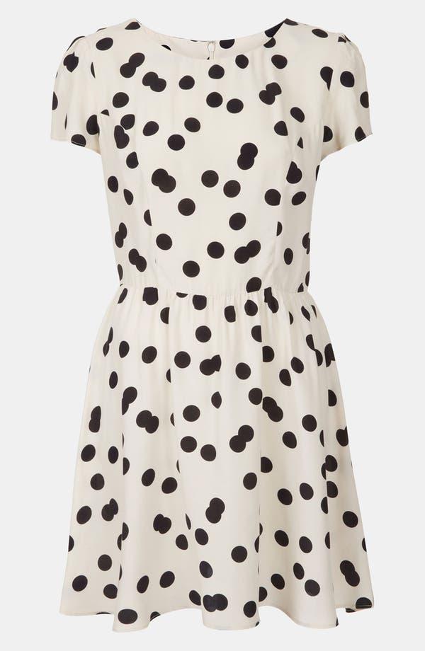 Alternate Image 1 Selected - Topshop 'Florence' Polka Dot Dress