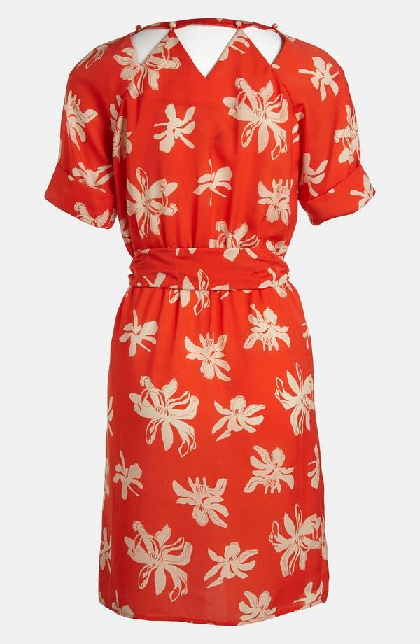 Alternate Image 2  - Viva Vena! Cutout Neckline Print Dress
