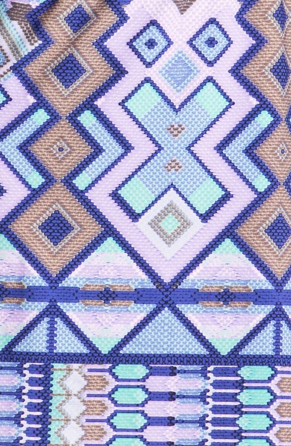 Alternate Image 3  - Donna Morgan Embellished Print Blouson Dress