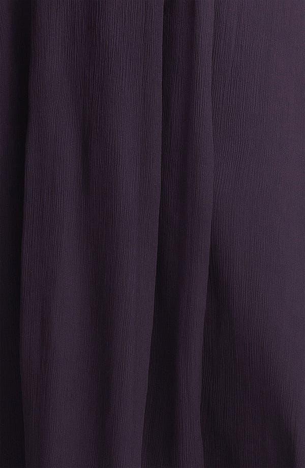 Alternate Image 3  - Amsale Crinkled Silk Chiffon Peplum Gown