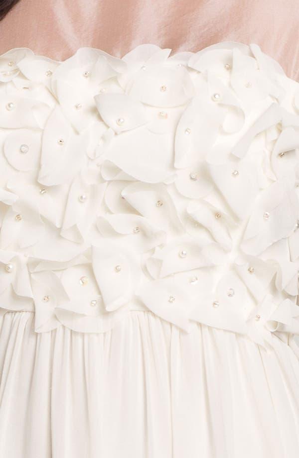 Alternate Image 4  - Donna Morgan Embellished Ruffle Chiffon Dress