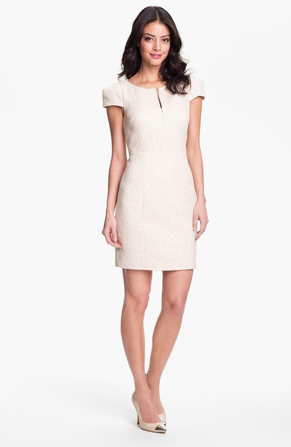 Alternate Image 1 Selected - 4.collective Cap Sleeve Tweed Sheath Dress