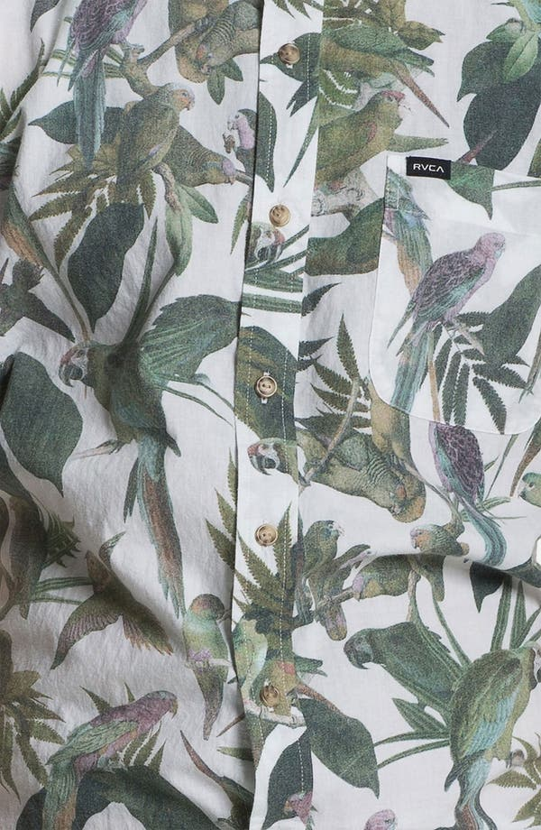 Alternate Image 3  - RVCA 'Squawker' Print Woven Shirt