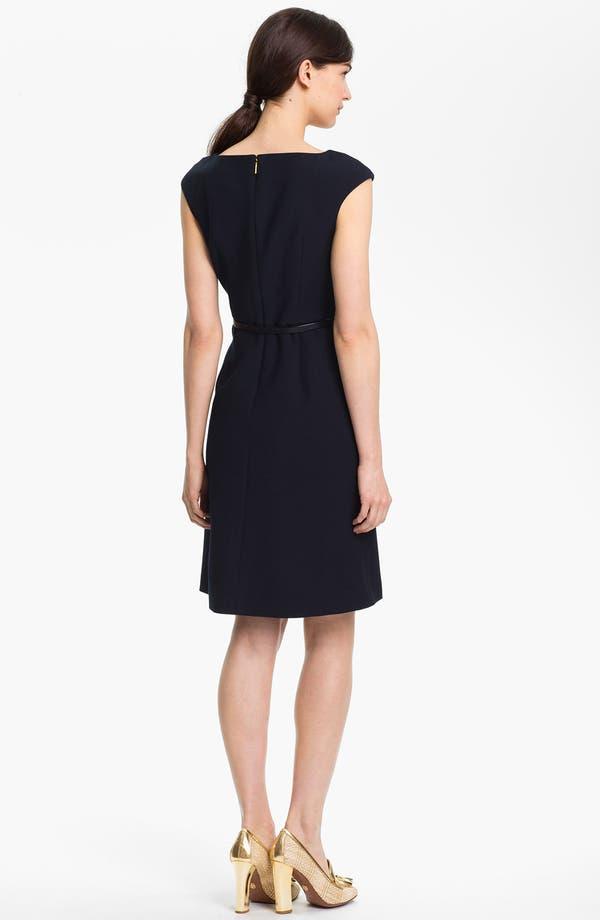 'Walsh' Wool Blend A-Line Dress,                             Alternate thumbnail 2, color,                             Medium Navy