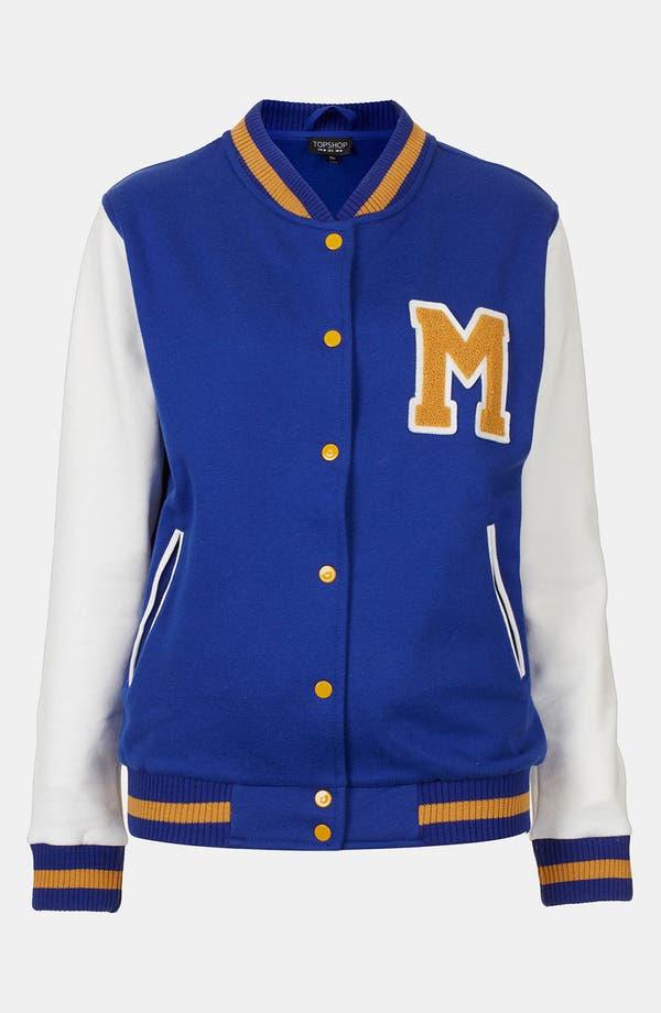 Alternate Image 3  - Topshop Jersey Varsity Jacket