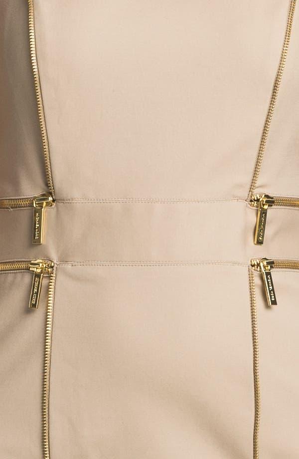 Alternate Image 3  - MICHAEL Michael Kors Zip Trim Sheath Dress (Petite)