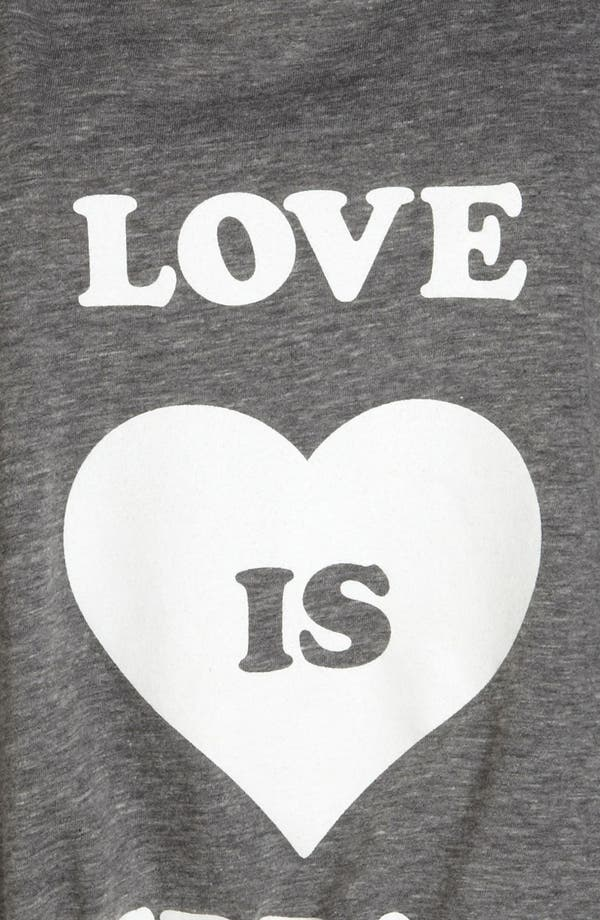 Alternate Image 3  - Local Celebrity 'Love is Overrated' Screenprint Tee