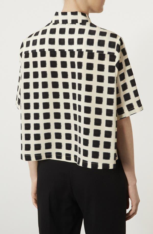 Alternate Image 2  - Topshop Blurred Square Lace Shirt