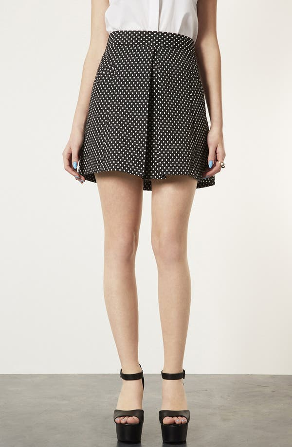 Alternate Image 1 Selected - Topshop Polka Dot A-Line Skirt