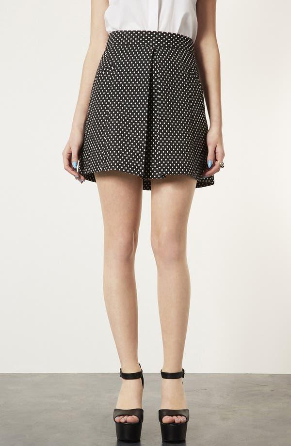 Main Image - Topshop Polka Dot A-Line Skirt