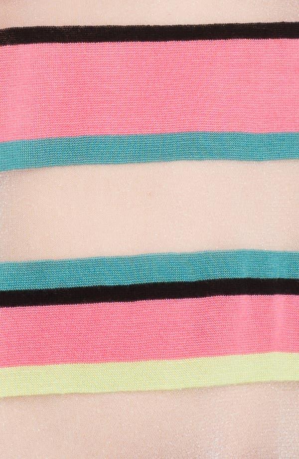 Alternate Image 3  - Trouvé Neon Sheer Stripe Sweater