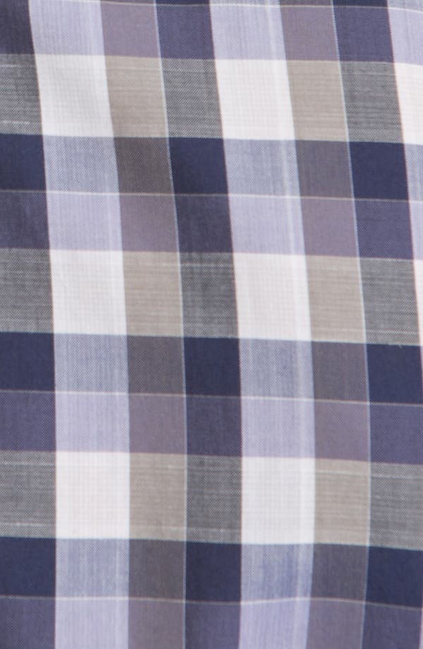 Alternate Image 3  - Canali Check Sport Shirt
