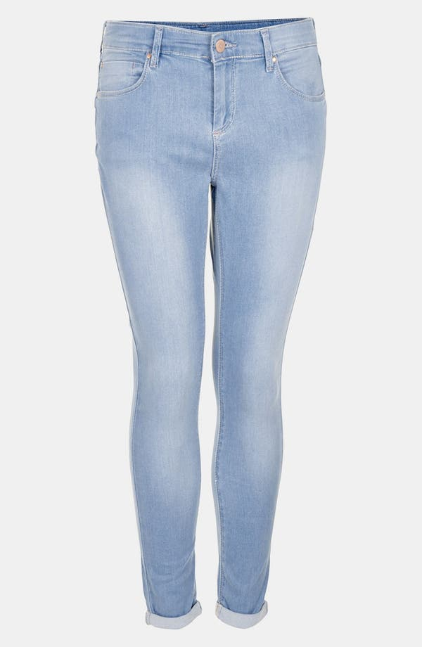 Alternate Image 1 Selected - Topshop 'Bleach Leigh' Skinny Jeans (Petite)