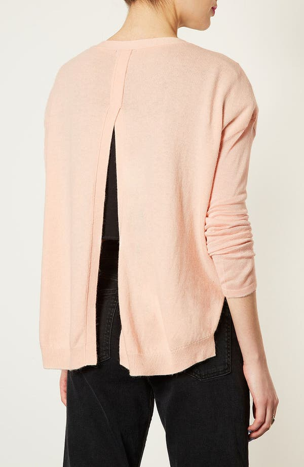 Alternate Image 2  - Topshop Sheer Sleeve Envelope Back Cardigan