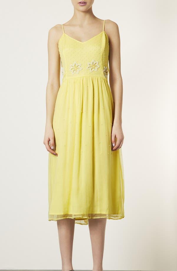 Main Image - Topshop 'Debutante' Beaded Midi Dress