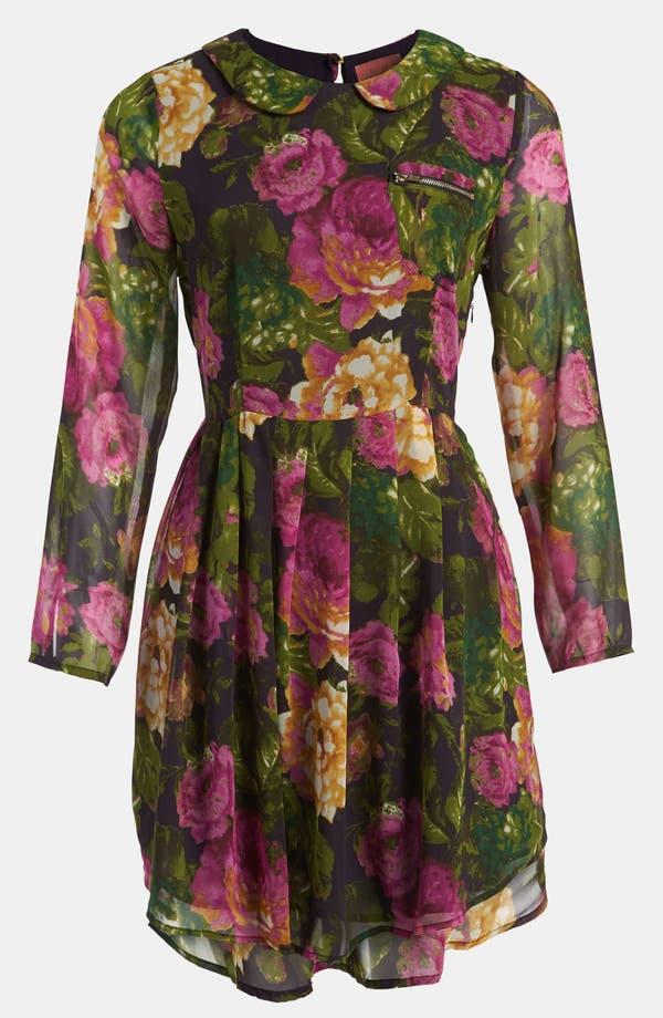 Main Image - I.Madeline Floral High/Low Dress
