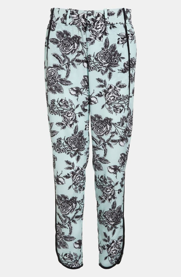 Alternate Image 1 Selected - Wayf Tuxedo Stripe Floral Pants