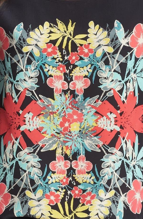Alternate Image 3  - Ella Moss 'Tropadelic' High/Low Silk Shirt