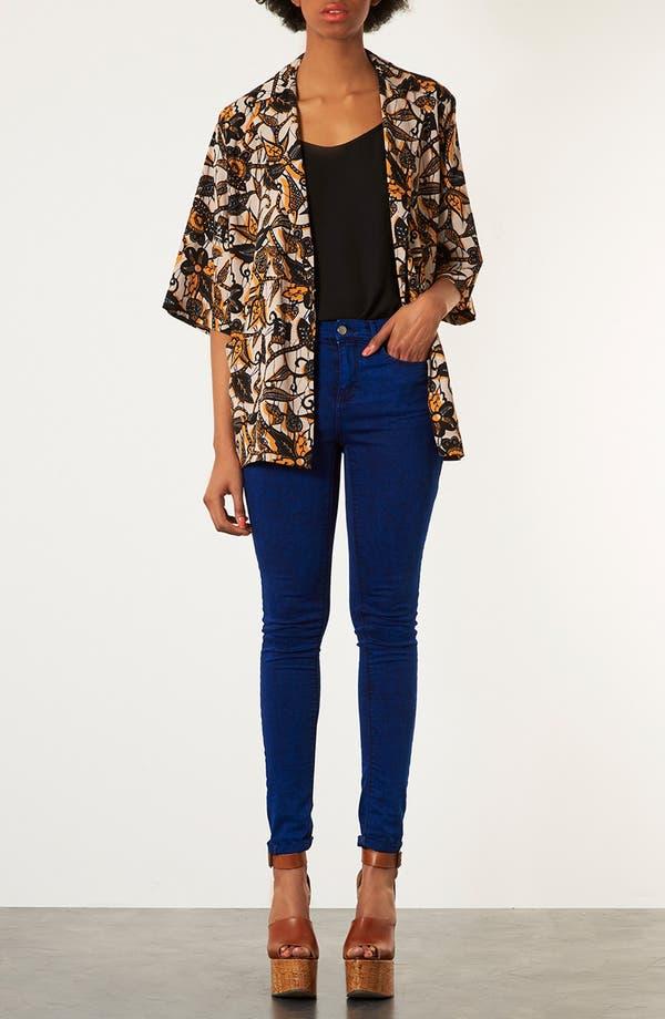Alternate Image 3  - Topshop Batik Print Kimono Jacket