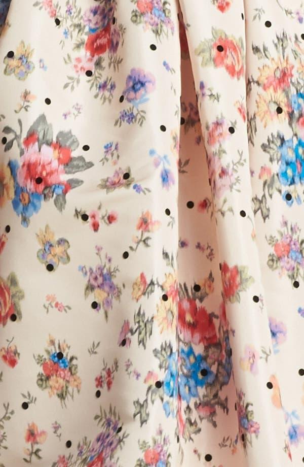 Alternate Image 3  - RED Valentino Flower & Polka Dot Print Dress